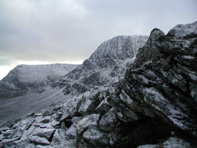A big wild mountain in winter Ben Alder