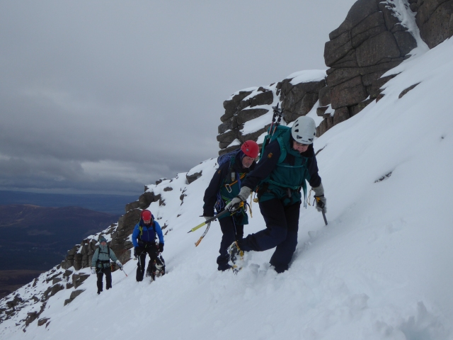 The winter is now here so the crampons may be used more.