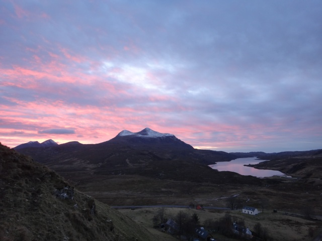 Cul Mor with an Alpen glow.