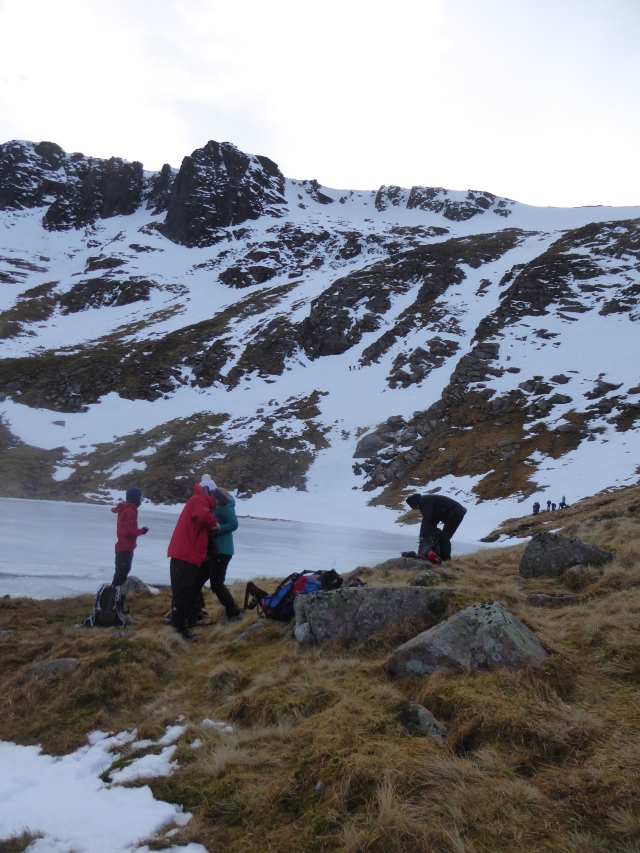 At the Lochan a lovely place for a break.