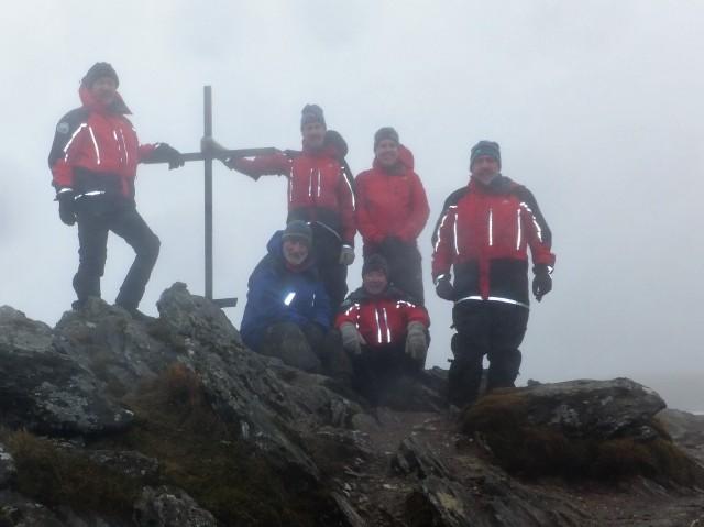 2017 Ben Ledi Memorial Killin Mountain Rescue pay their respects. Photo Killin MRT.