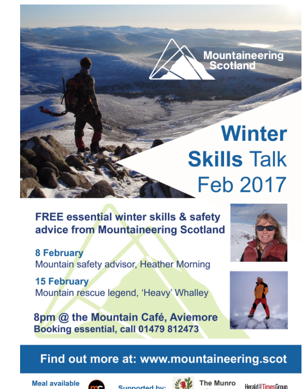 2017 Winter Skills talk in Aviemore at the Mountain Cafe.
