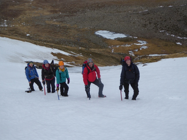 On the snow on the way up.
