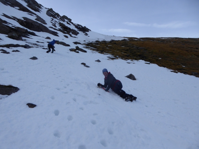 Ice axe breaking make sure you have a good run out.
