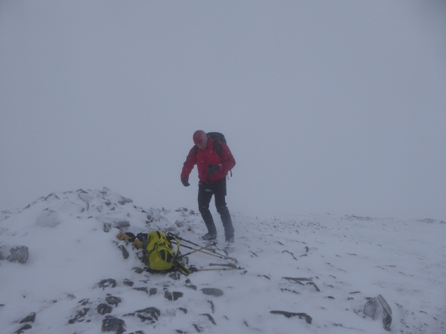 Not a day for photos. Ned at the top it took 35 years to get there!!!!